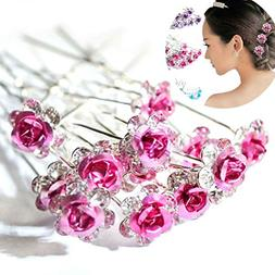 AKOAK 20 Pcs/Lot Women Wedding Bridal Clear Crystal Rhinesto