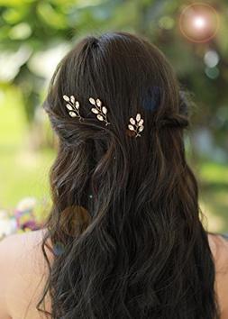 Missgrace 3pcs Wedding Bridal Crystal Rhinestone Bridal Hair