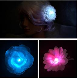 White LED Hair Barrette - Bachelorette party favor, bridesma