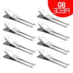 160pcs Double Prong Silver Aligator Clips Baby Hair Bows Metal Hair Clips