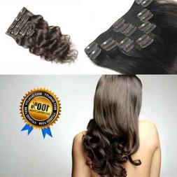 woman hair Clip In Human Hair Extensions 18 clip 8 piece man