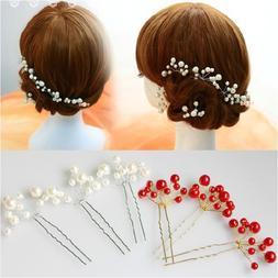 Women Bridal Wedding <font><b>Hair</b></font> Stick Imitatio