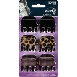 Goody WoMen Classics Cheetah Claw Clip, Half, 6 Count