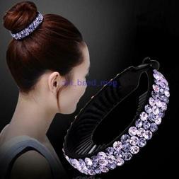 Women Fashion Hair Clip Crystal Claw Ponytail Bun Holder Hai