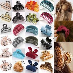 Women Flower Crystal Hair Clip Comb Rhinestone Hairpin Claw