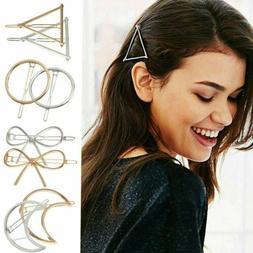 Women Geometric Hair Clips Barrettes Accessories Pins Clip F