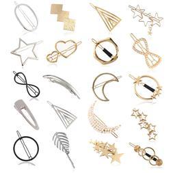 women girls korean star hair clip snap