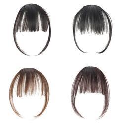 Women Hair Clip In Bangs Air Bang Fringe Fake Hair Extension