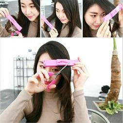 Women Hair Cutting Ruler Hair Trimmer Scissors Bangs Clipper