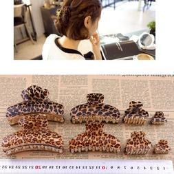 women leopard hair claws clamp accessories hair
