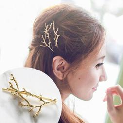 Women Metal Tree Branch Hairpins Barrette Hair Clip Jewelry