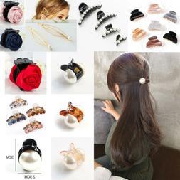 Women Pearl Mini Hair Accessories Hair Claw Barrettes Fashio