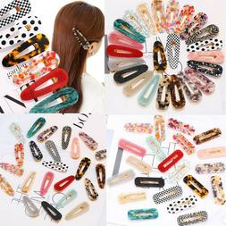 women resin hair slide clips side snap