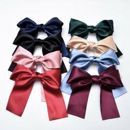 Women's Big Bow Hairpin Long Ribbon Hair Clip Fabric Hair Ba