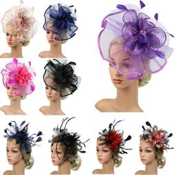 women s hair accessory clip feather mesh
