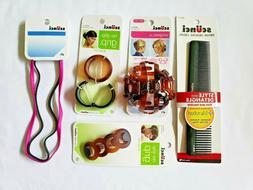 Women's Scunci Hair Accessories 9 Pack Bundle Comb Ponytail