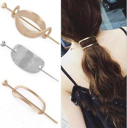 Womens Girls Unique Vintage Hair Clasp Clips Hairpin Stick U