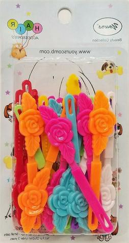 yours barrettes hair multi color roses flowers
