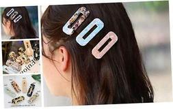 Zoestar 6Pcs Acrylic Hair ClipBarrette Fashion Resin Hair